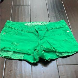 Pants - Express green shorts